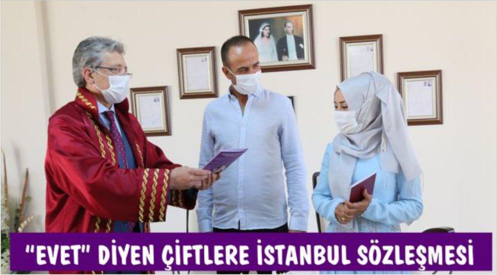 """""""EVET"""" DİYEN ÇİFTLERE İSTANBUL SÖZLEŞMESİ"""
