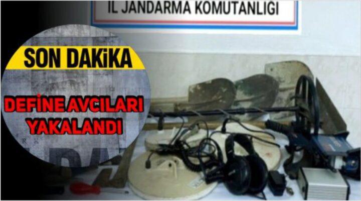 JANDARMA DEFİNE AVCILARINI YAKALADI