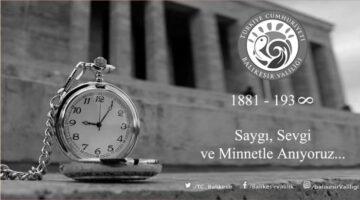 Vali Hasan Şıldak'ın 10 Kasım Mesajı